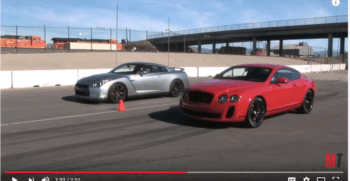 Bently vs Nissan GTR
