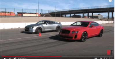 Bently vs Nissan GTR