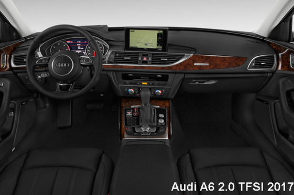 Audi-A6-2.0-TFSI-2017-steering-and-transmission
