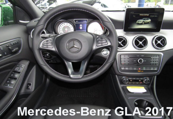 Mercedes-Benz-GLA-250-2017-steering-and-transmission