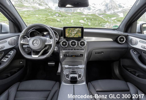 Mercedes-Benz-GLC-300-2017-steering-and-transmission