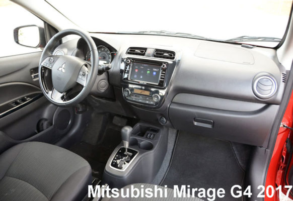Mitsubishi-Mirage-G4-2017-steering-and-transmission