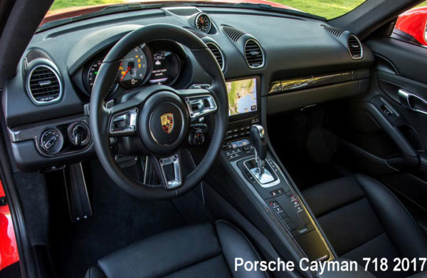 Porsche-Cayman-718-2017-steering-and-transmission