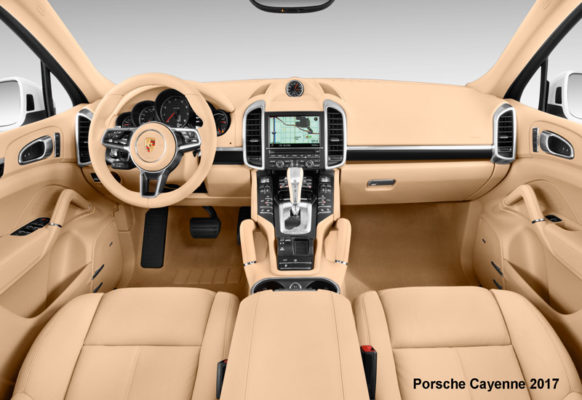 Porsche-Cayenne-2017-steering-and-transmission