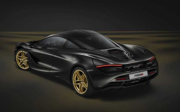 MC-Laren-720-S-Black-gold-rear-view--Dubai-Show