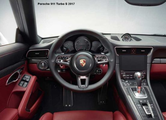 Porsche-911-Turbo-S-2017-steering-and-transmission
