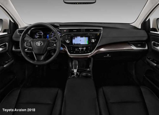 Toyota-Avalon-2018-steering-and-transmission