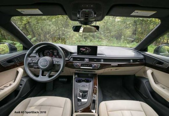 Audi-A5-sportback-2018-steering-and-transmission