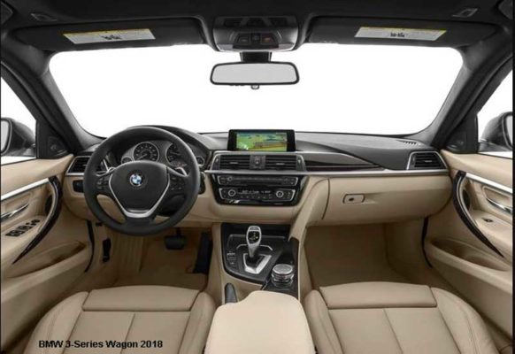 BMW-3-Series-wagon-2018-steering-and-transmission