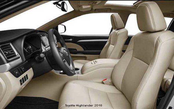 Toyota-Highlander-2018-front-seats