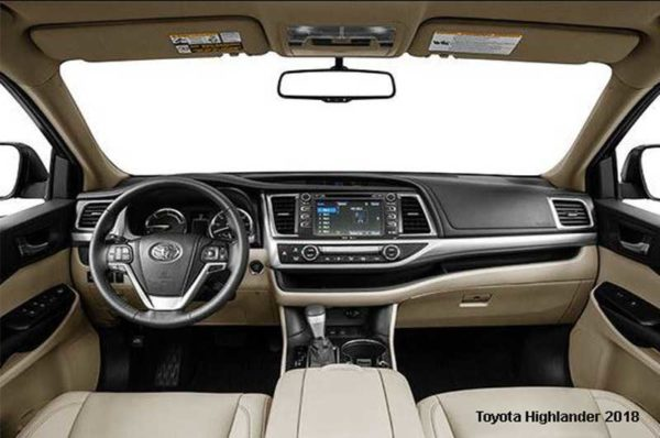Toyota-Highlander-2018-steering-and-transmission