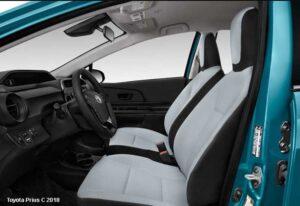 Toyota-Prius-C-front-seats | Toyota Aqua G Hybrid