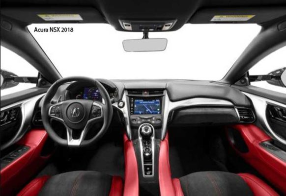 Acura-NSX-2018-steering-and-transmission