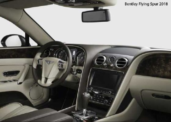 Bentley-Flying-Spur-2018-steering-and-transmission