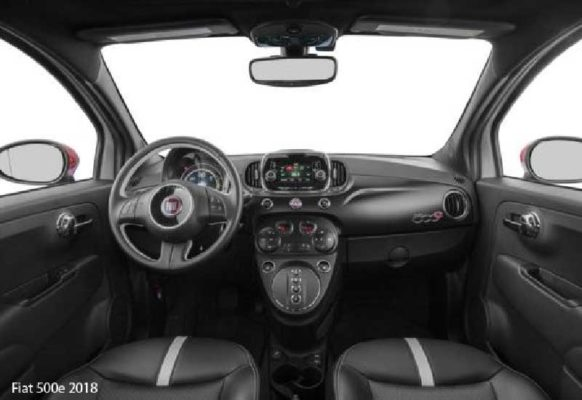 Fiat-500e-2018-steering-and-transmission