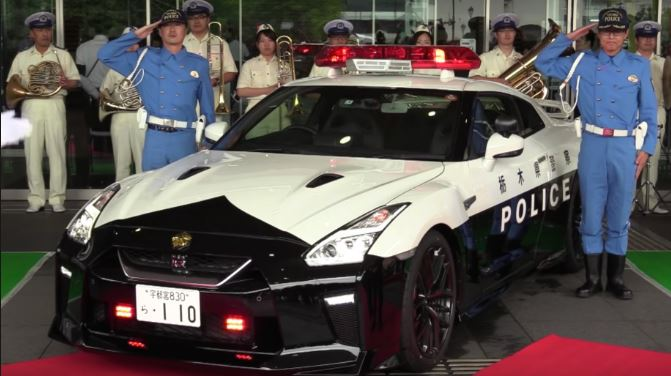 Nissan Gift's GTR R-35 to Japan Police