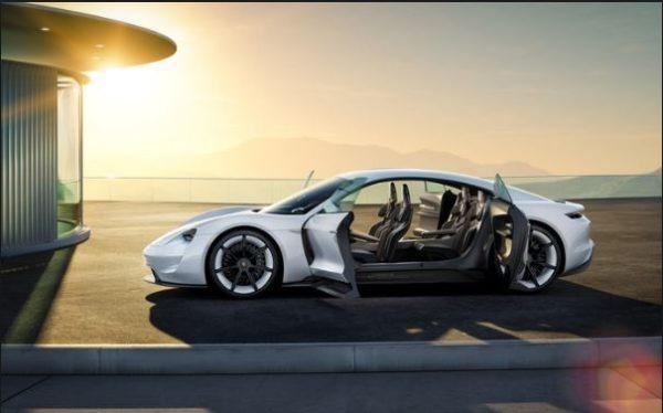 Taycan an all electric car by Porsche