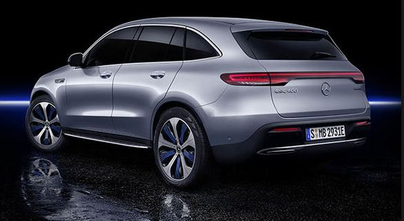 All Electric SUV by Mercedes for 2019 Rear View