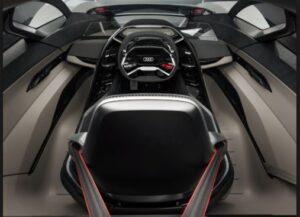 Audi PB18-etron haves best Driving position.