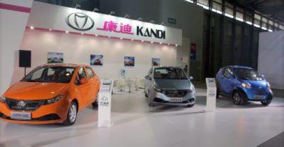 China's Kandi electric vehicles for US market