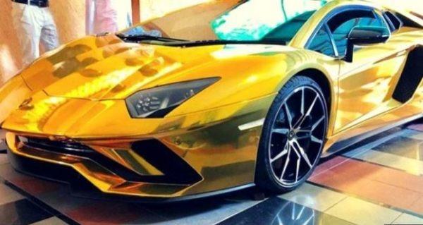 Lamborghini Aventador S 18K Gold Foil