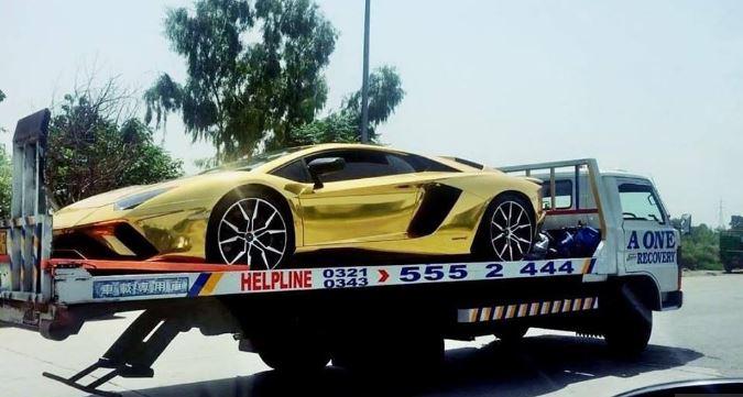 Lamborghini Aventador S 18K Gold Foil in Islamabad Pakistan