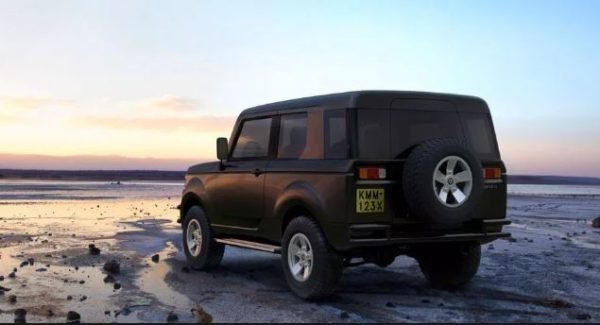 Mobius II all wheel drive SUV in Africa