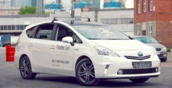 Yandex Driverless ride hailing vehicles