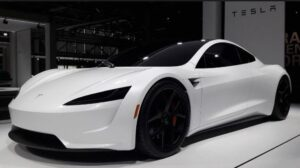 Sleek White Looking Tesla is no doubt a Master piece by the company