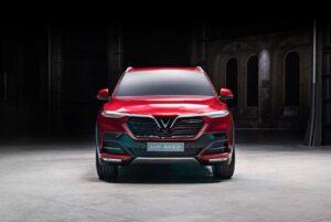Vietnam's first car brand Vinfast displayed SUV at paris Motor show