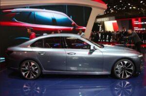 Vietnam's first car brand Vinfast displayed Sedan at paris Motor show