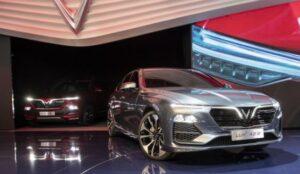 Vinfast Lux SA2.0 Sedan Displayed at Paris Motor show