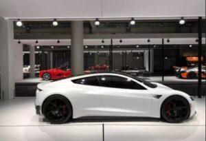 White Sleek Tesla Roadster Looks Great