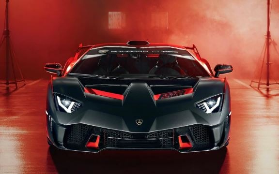 Lamborghini SC18 Alston with Red and Black Design.