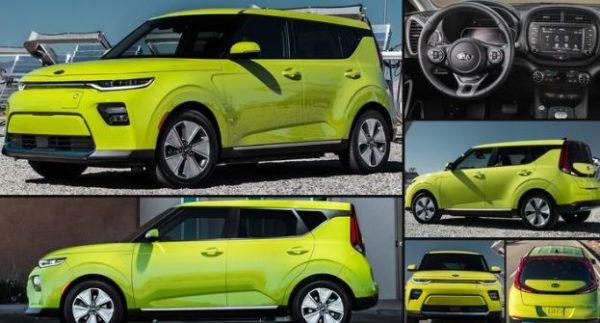 New KIA soul EV displayed at LA Auto show 2018