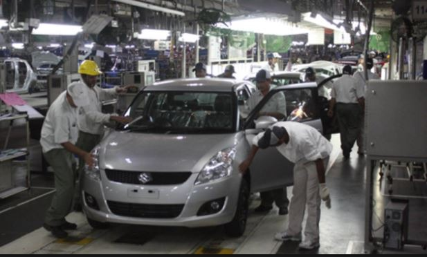 Pak Suzuki Production Plant in Karachi Pakistan.