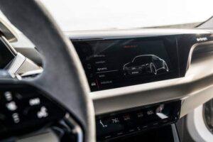 interior of audi e-tron concept Electric vehicle
