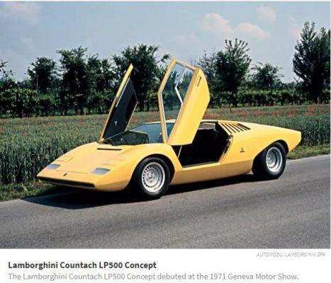 Lamborghini Countach Lp500 Concept, 1971 Geneva Motor show