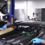 Oil change of Beast Buggati Veyron