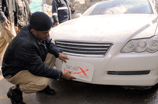 Crackdown against illegal Number plates in Pakistan