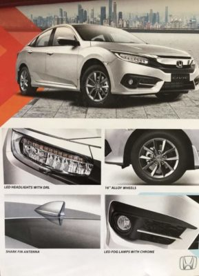 Honda Civic 2019 facelift