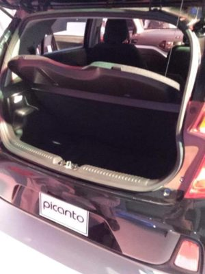 KIA Picanto Rear and Boot