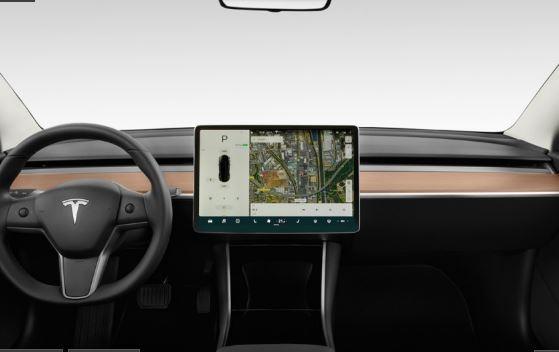 2019 Tesla Model 3 front cabin view