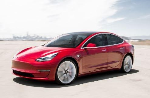 2019 Tesla model 3 Side View
