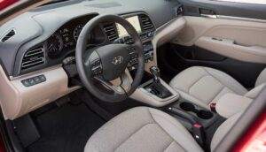 Hyundai Elantra 2019 Interior front cabin view
