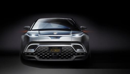 2021 fisker ocean all electric SUV front view