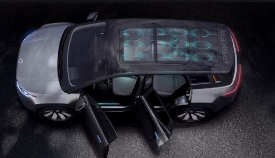 2021 fisker ocean all electric SUV solar roof full view
