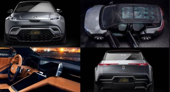 2021 fisker ocean all electric interior exterior all view