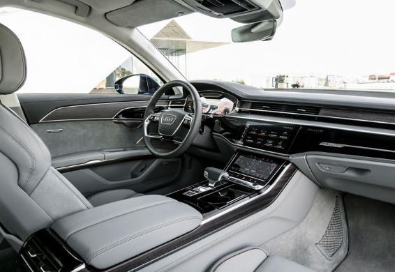 Audi A8 2020 front cabin full view