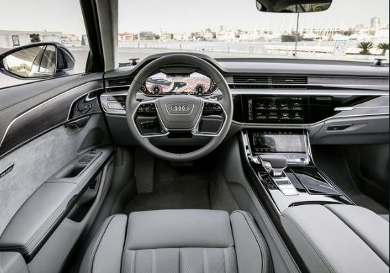 Audi A8 2020 front cabin interior view